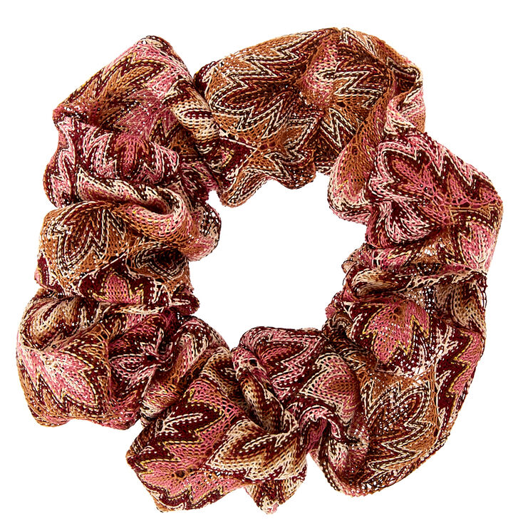 Pink Flame Twister Hair Scrunchie,