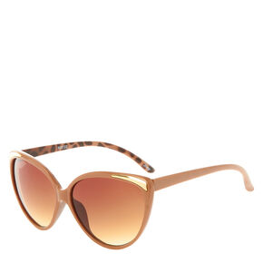 Tan Leopard Cateye Sunglasses,