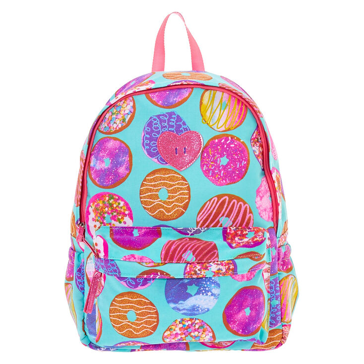 Turquoise Glittery Donut Backpack Claire S Us