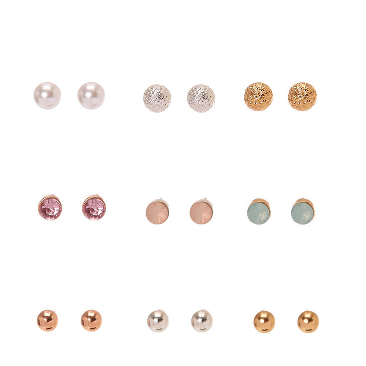 Pearl Opal and Crystal Studs Multi Pack,
