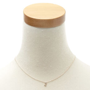 Rose Gold-Tone J Initial Pendant Necklace,