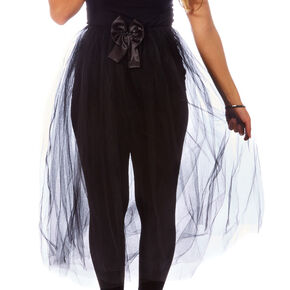Black Long Train Halloween Tutu,