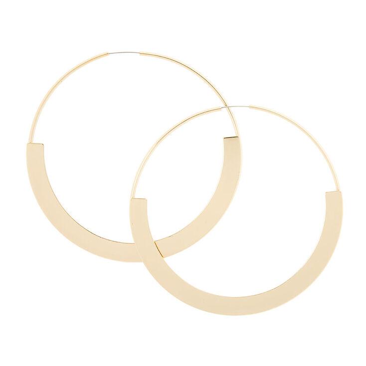 Gold Rim Hoop Earrings,