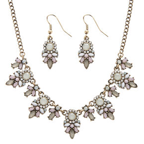 Vintage Style Bronze Floral Jewelry Set,