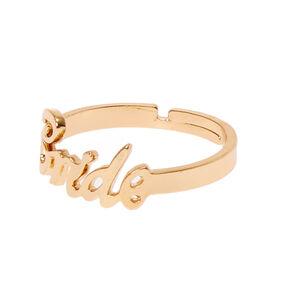Gold-Tone BRIDE Script Ring,