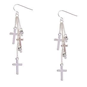 Multi Cross Drop Earrings,