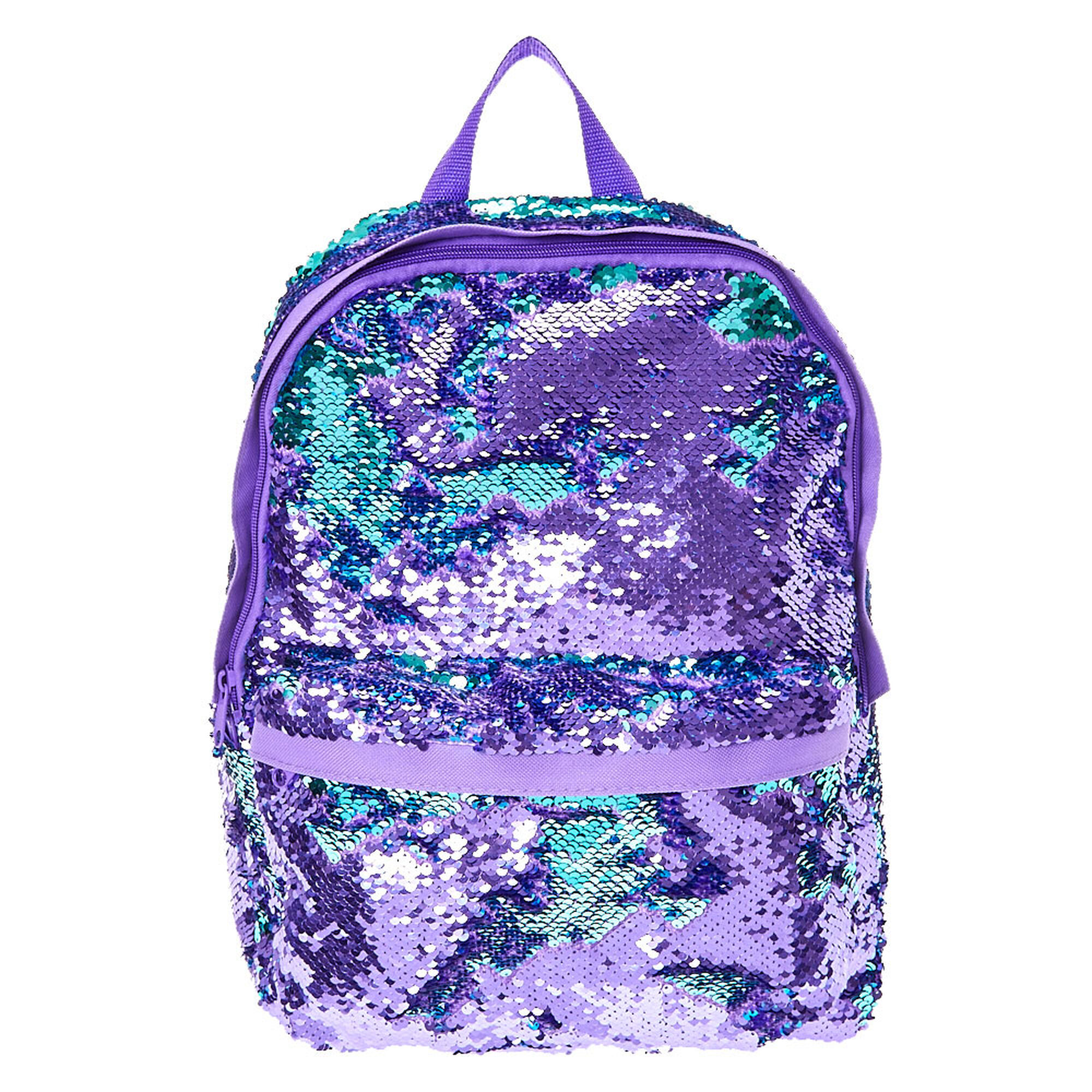 Reversible Purple To Turquoise Sequin Backpack Claire S Ca