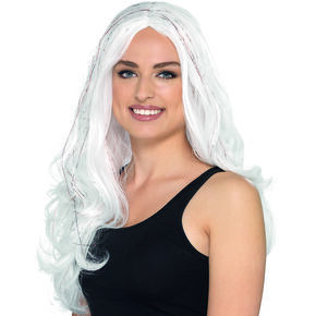 White Tinsel Wig,