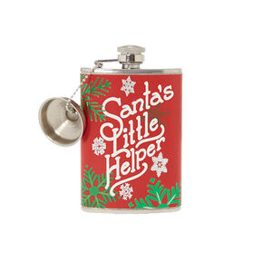 Santa's Little Helper Flask,