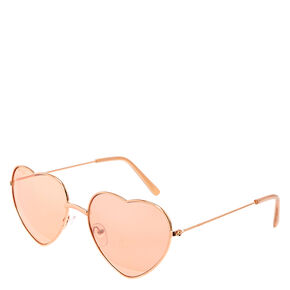 Rose Gold Heart Sunglasses,