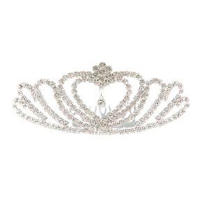 Crystal Heart Tiara Comb