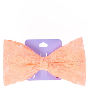 Hair bows for girls bow headbands hair bow clips claires us oversized coral lace bow hair clip urmus Choice Image