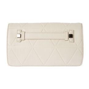 Madison Beige Faux Leather Crossbody Bag,