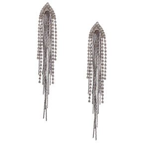Silver Waterfall Drop Earrings,