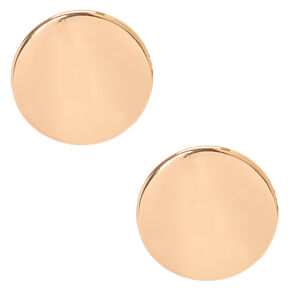 Large Gold Disc Clip-on Earrings,