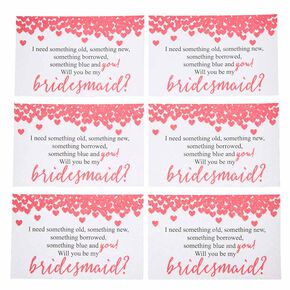 Will You Be My Bridesmaid Stickers,