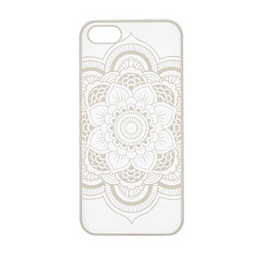 White Flower Mandala Phone Case,