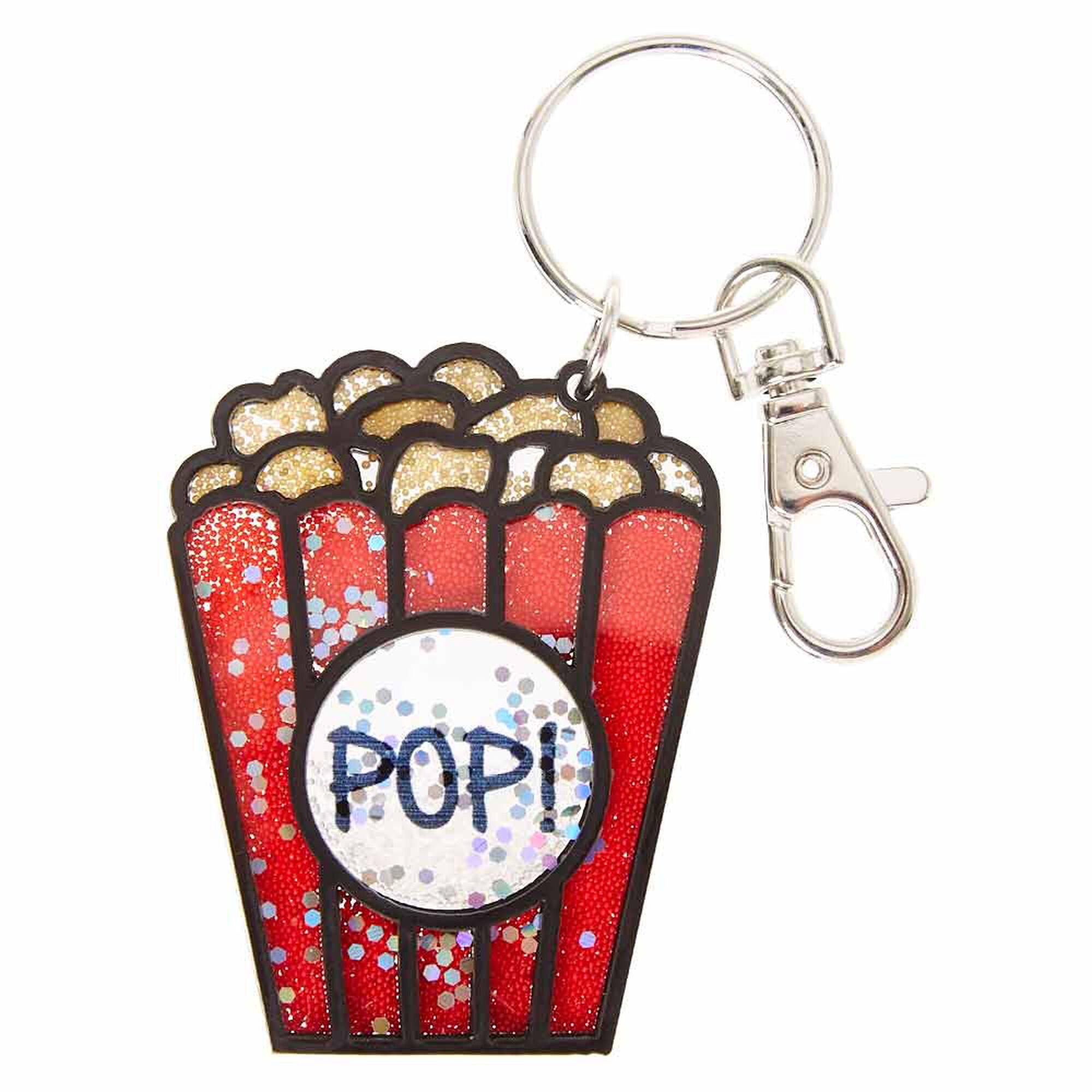 Protein Shaker Keyring: Popcorn Shaker Keychain