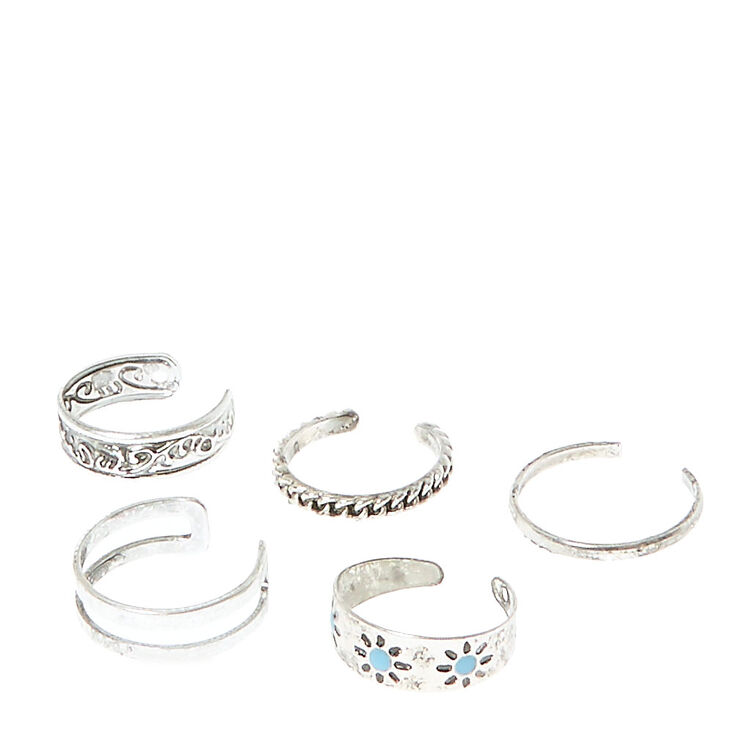 Embossed Toe Ring Set,