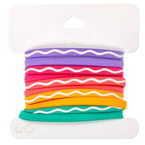 Neon No Slip Grip Hair Ties 10 Pack,