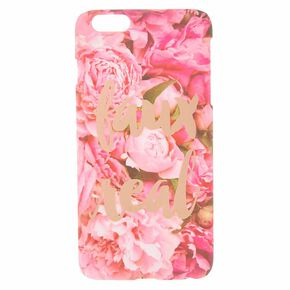 Faux Real Pink Floral Phone Case,