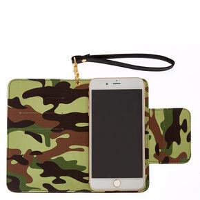 Camo & Black Cell Phone Wristlet,