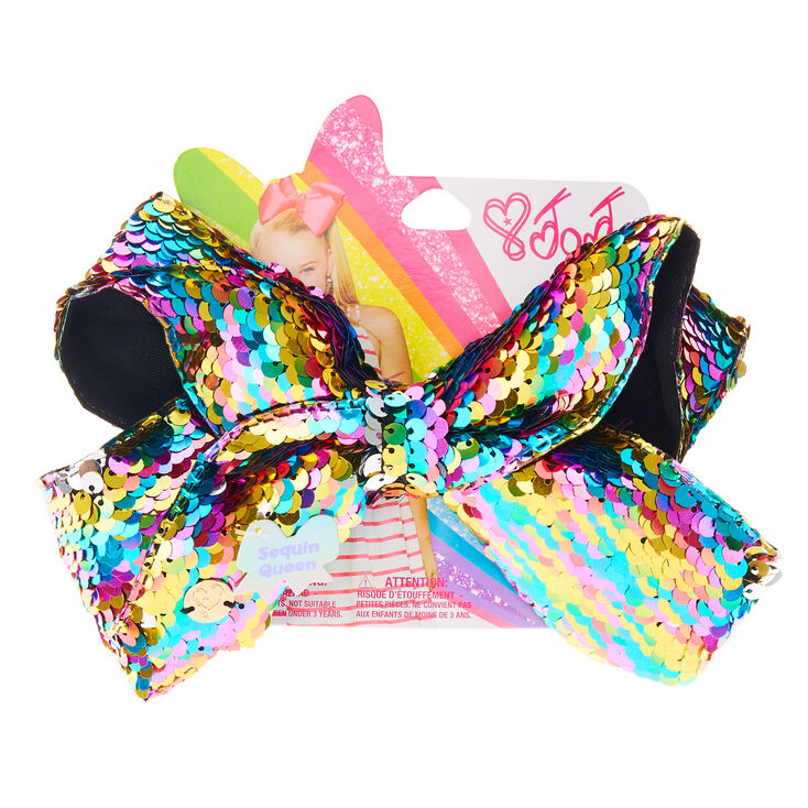 Jojo Siwa Large Rainbow Sequin Queen Hair Bow Claire S