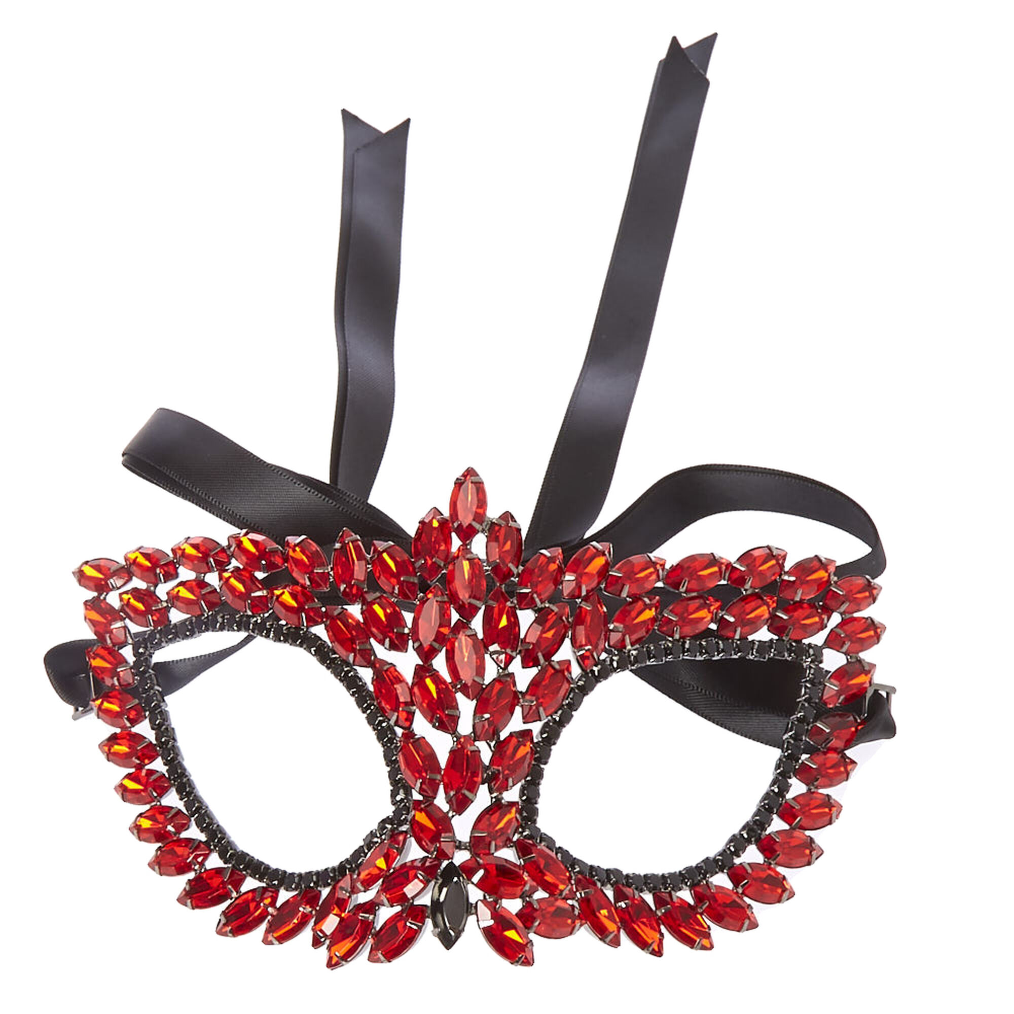Deep Red Gem Encrusted Halloween Mask | Claire's US