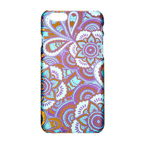 Gold Foil and Teal Floral Phone Case,