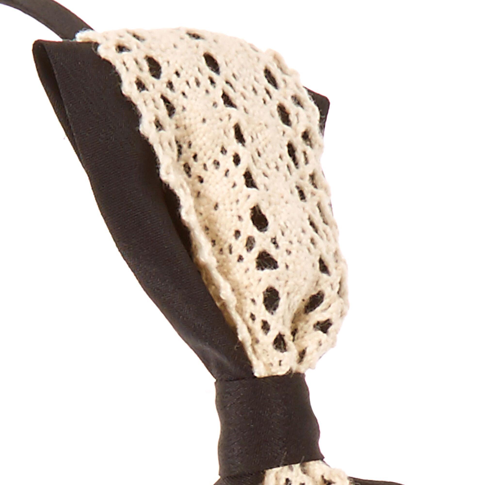 Black Crochet Bow Headband Claire S Us