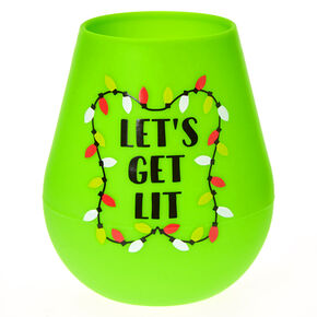 Let's Get Lit Silicone Wine Glass,