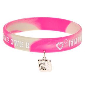 Empower Charm Rubber Bracelet,