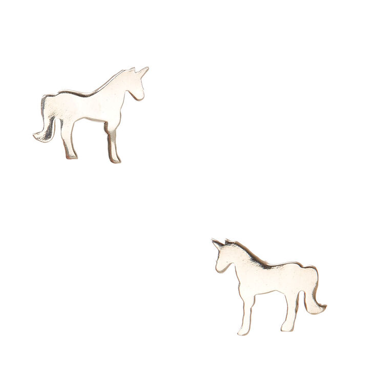 925 Sterling Silver Unicorn Love Earrings,