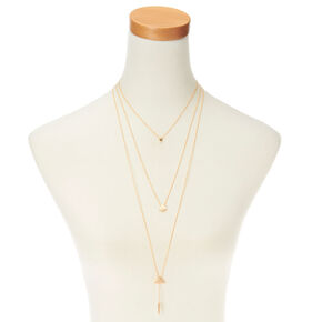 Simple Tri Layered Gold Necklace,
