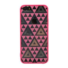 Pink Metallic Geometric Phone Case,