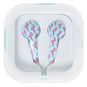 Flamingo Print Earbuds,