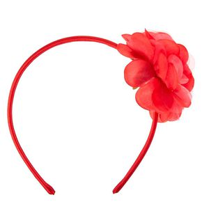 Red Chiffon Flower Headband,