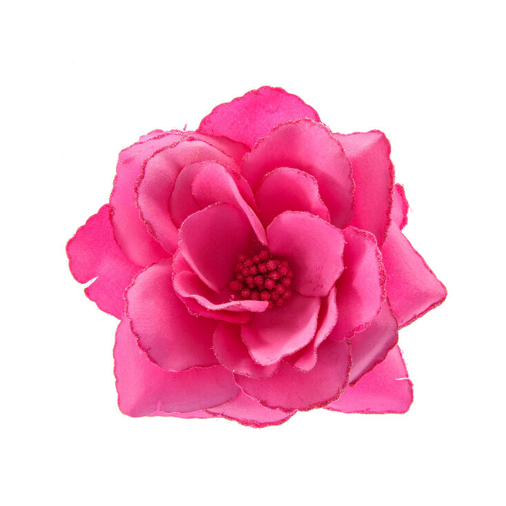 large hot pink flower hair clip  claire's, Beautiful flower