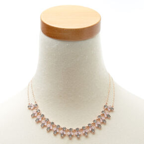 Rose Gold Romantic Statement Necklace,