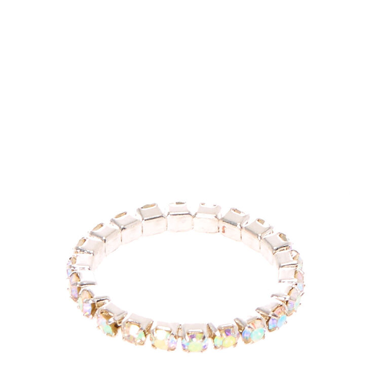 Iridescent Stretch Toe Ring,
