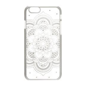 Silver Flower Mandala Phone Case,