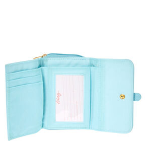 Floral Lace Turquoise Faux Leather Wallet,