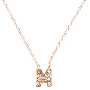 Rose Gold-Tone M Initial Pendant Necklace,