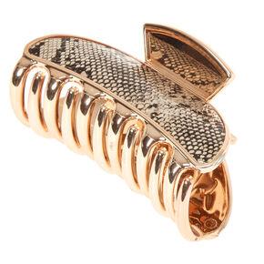 Medium Gold Snake Hair Claw,