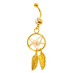Gold Dreamcatcher Belly Bar,