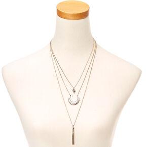 Layered Pendant Fringe Necklace,
