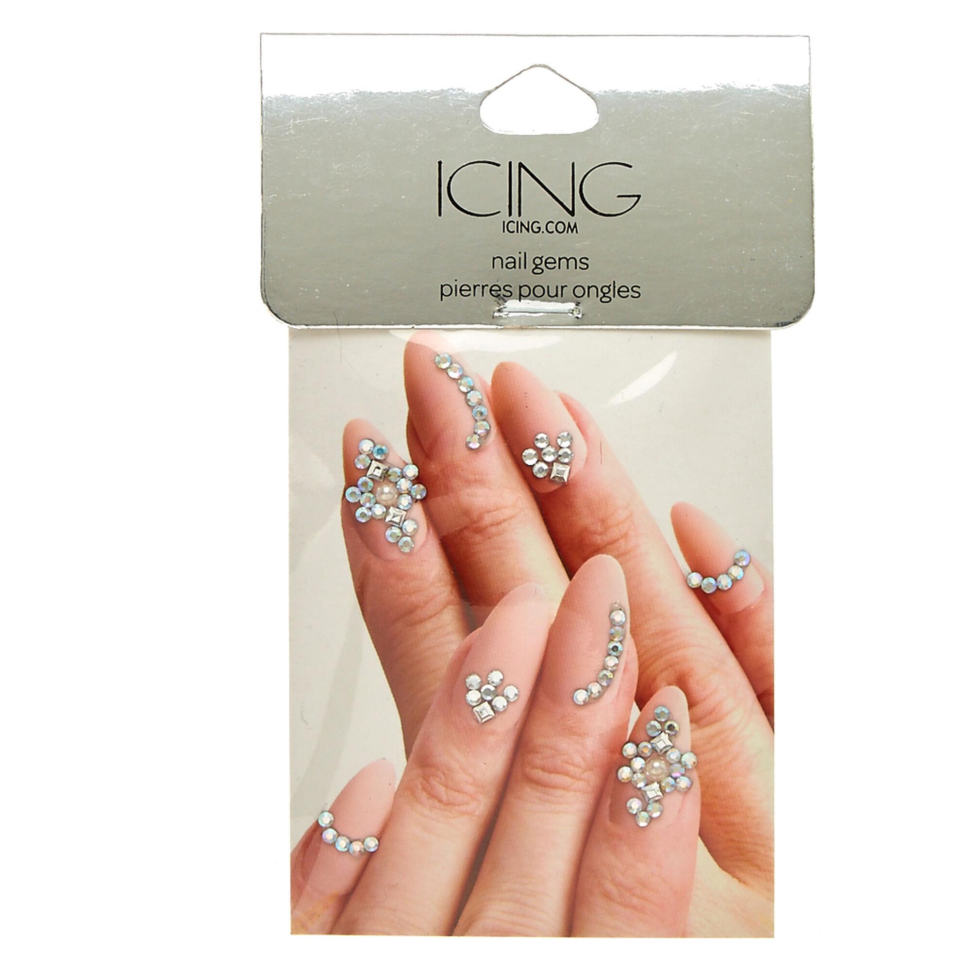 Nail art tools icing us silver nail bling gems prinsesfo Choice Image
