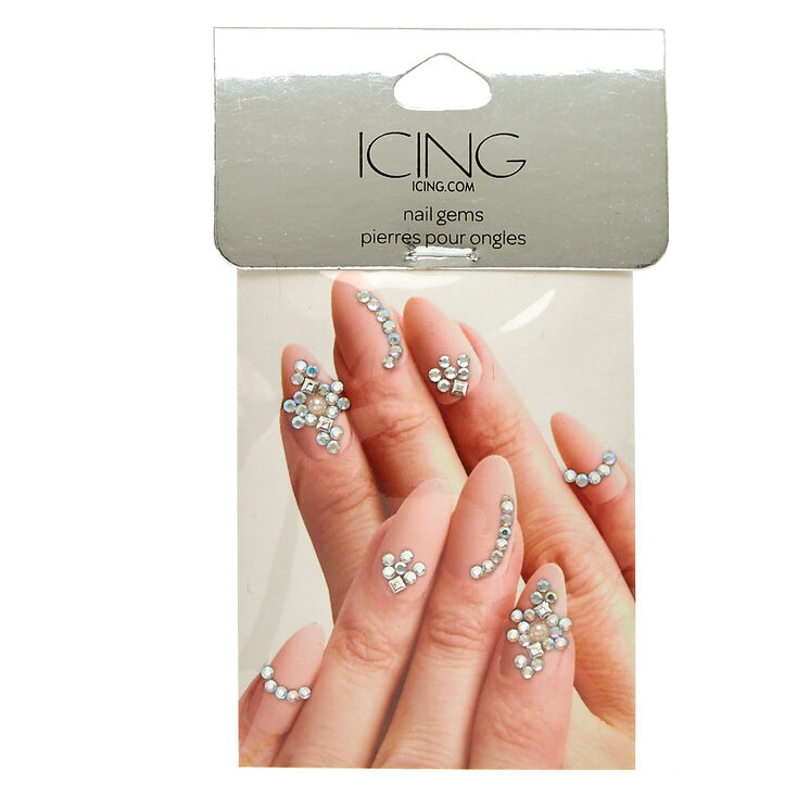 Silver Nail Bling Gems at Icing in Victor, NY | Tuggl