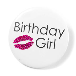 Birthday Girl Button,