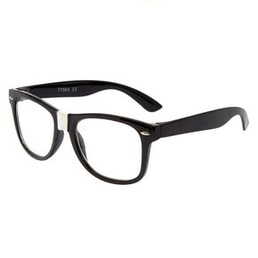 Round Black White Taped Geek Frames,